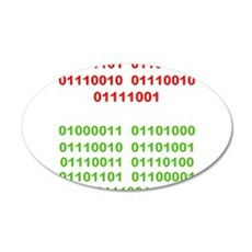Merry Christmas in Binary Wall Decal