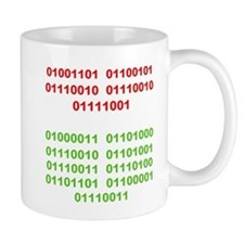 Merry Christmas in Binary Mugs
