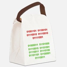 Merry Christmas in Binary Canvas Lunch Bag