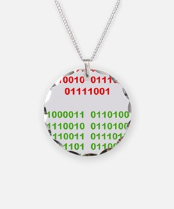Merry Christmas in Binary Necklace