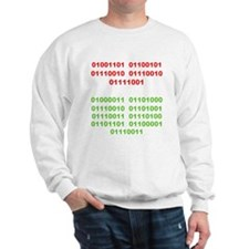 Merry Christmas in Binary Sweatshirt