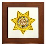 Hawaii Sheriff Framed Tile