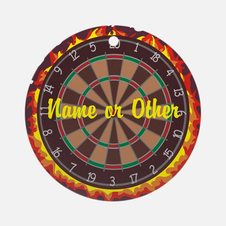 Personalized Darts Player Ornament (Round)
