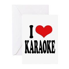 I Love Karaoke Greeting Cards (Pk of 10)
