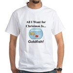 Christmas Goldfish White T-Shirt