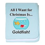 Christmas Goldfish baby blanket