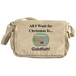 Christmas Goldfish Messenger Bag