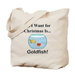 Christmas Goldfish Tote Bag