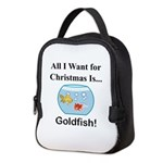 Christmas Goldfish Neoprene Lunch Bag