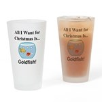 Christmas Goldfish Drinking Glass