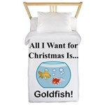 Christmas Goldfish Twin Duvet