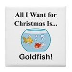 Christmas Goldfish Tile Coaster