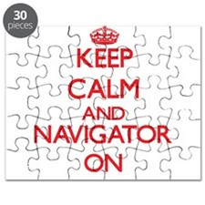 Keep Calm and Navigator ON Puzzle