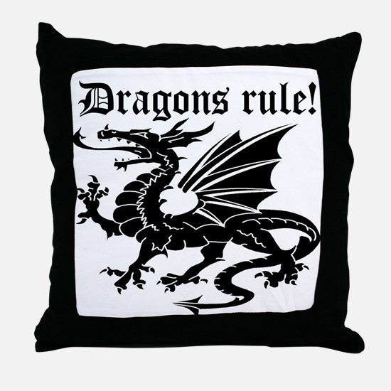 Dragons rule Throw Pillow