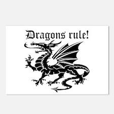 Dragons rule Postcards (Package of 8)