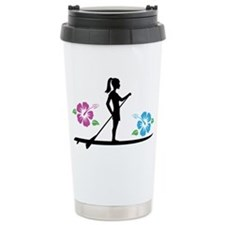 Paddleboarding girl Travel Mug