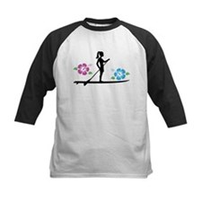 Paddleboarding girl Baseball Jersey