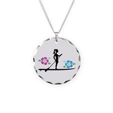 Paddleboarding girl Necklace