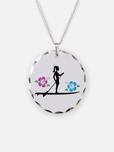 Paddleboarding girl Necklace