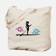 Paddleboarding girl Tote Bag