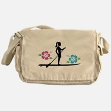 Paddleboarding girl Messenger Bag