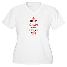 Keep Calm and Ninja ON Plus Size T-Shirt