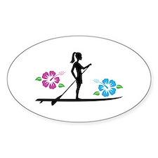 Paddleboarding girl Decal