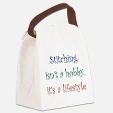 Stitching Lifestyle Canvas Lunch Bag