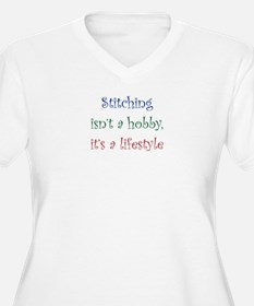 Stitching Lifestyle Plus Size T-Shirt