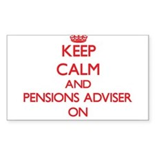 Keep Calm and Pensions Adviser ON Decal