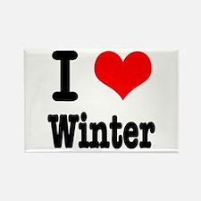 I Heart (Love) Winter Rectangle Magnet