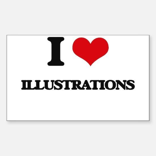 I Love Illustrations Decal