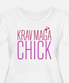 Cute Krav Maga Chick Plus Size T-Shirt