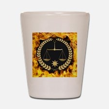 Flaming Justice Shot Glass