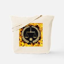 Flaming Justice Tote Bag
