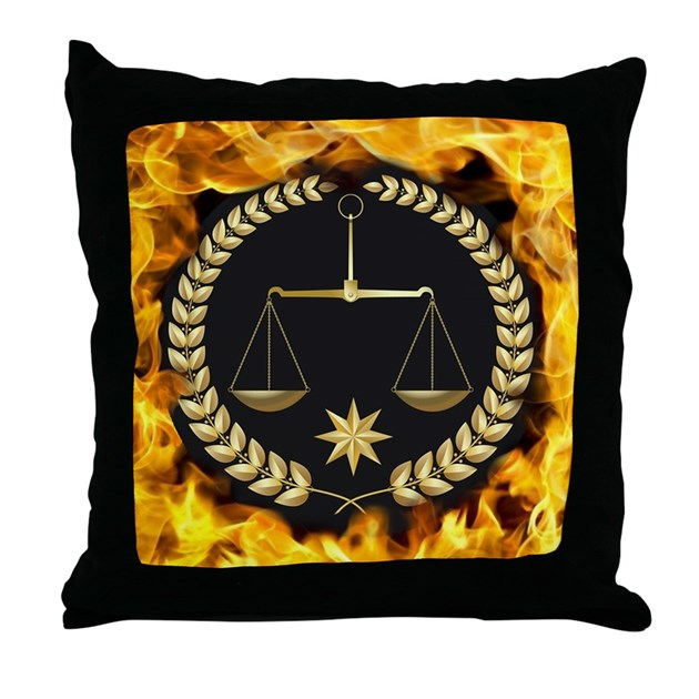Throw Pillows With Jewels : Flaming Justice Throw Pillow by listing-store-121840894