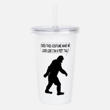 Bigfoot Silhoutte With Acrylic Double-wall Tumbler