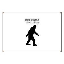 Bigfoot Silhoutte With Speech Bubble Banner