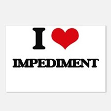 I Love Impediment Postcards (Package of 8)