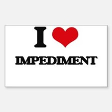 I Love Impediment Decal