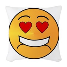 DAT Emoji Woven Throw Pillow
