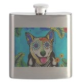 Day of the dead dog Flask Bottles