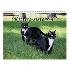 Kitties-Sisters-4 Wall Calendar