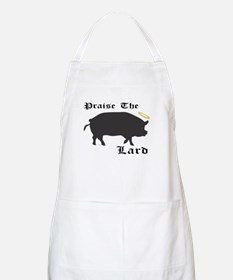 Praise the Lard funny bacon pig fat Apron