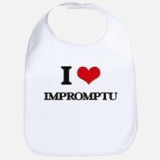 I Love Impromptu Bib