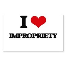 I Love Impropriety Decal
