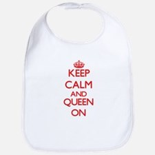 Keep Calm and Queen ON Bib