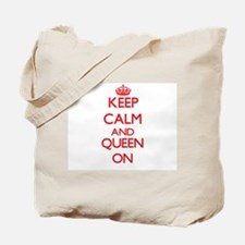 Keep Calm and Queen ON Tote Bag