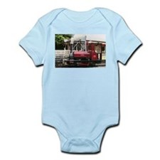 Red Steam train engine locomotive, Wales Body Suit