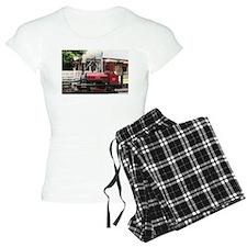 Red Steam train engine loco Pajamas